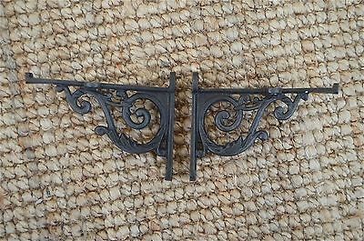 Pair of cast iron small Acanthus wall shelf brackets bracket 5 inch AL36