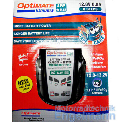 Optimate Lithium LFP 12V 0,8A LiFePO4 Batterie Ladegerät Charger