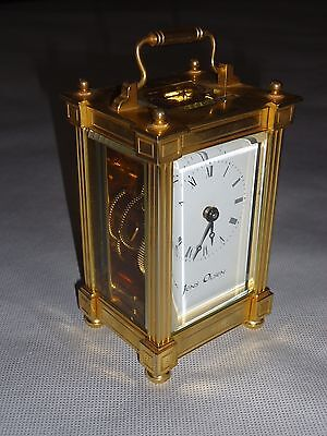 Boxed Jens Olsen Brass Gilt Carriage Clock. Spares Or Repair