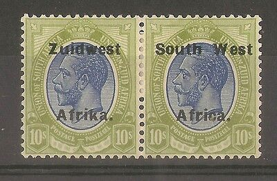 South West Africa 1924 10/- Pair SG39 Mint