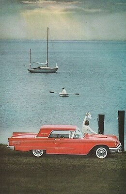 Ford Thunderbird 1960's Overlooking the Sea - Vintage Ads # 482