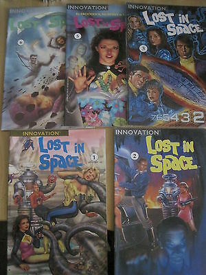 LOST IN SPACE : BUNDLE of #s  1,2,3,5,6. CLASSIC 1991 INNOVATION SERIES