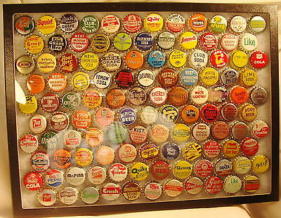 Lot Of 115 Different Vintage Soda Bottle Caps Cork Lined