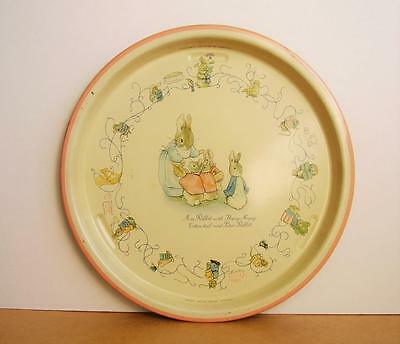 Rare 1950s BEATRIX POTTER RABBIT TRAY No. 102 by Texagen MADE IN ENGLAND Vintage