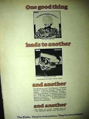 KINKS 1974 Tour Dates PROMO POSTER AD One Good Thing...