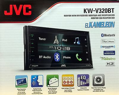 "NEW JVC KW-V320BT 6.2"" Touchscreen  Double DIN Bluetooth In-Dash CD Car Stereo"