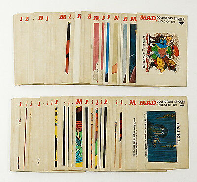 Over (50) 1983 Fleer MAD Magazine Collectors Sticker Cards ^ Some Duplicates