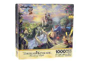 Disney Parks Thomas Kinkade Beauty and the Beast Falling in Love Puzzle 1000 Pc