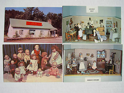 4 Rapid City SD Game Lodge Doll House Postcards + 2 cards from Winn's