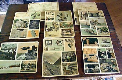 8 1934 11 X 9 School History On Communication Cards In Color Depression Era