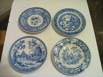 4 of The Spode Blue Room Collection of mini plates