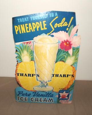 1941 Shamokin, Pa Tharps Pure Vanilla Ice Cream Counter Sign