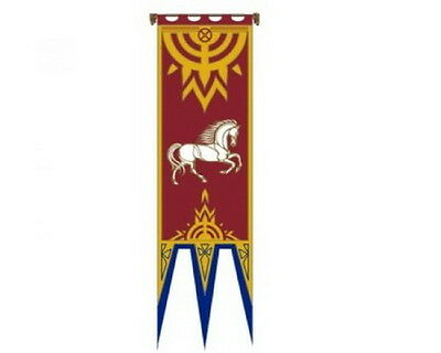 """""""Rohan IV""""  Lord of the Rings Flag/Banner- Large 22""""x77"""" w Pole-Import (FW-3024)"""