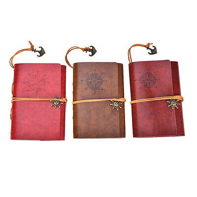 New Vintage Classic Retro Leather Journal Travel Notepad Notebook Blank Diary