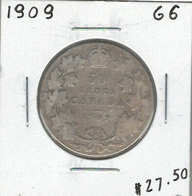 Canada 1909 Silver 50 Cents G06