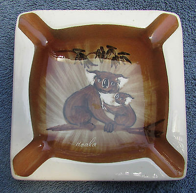 Vintage Australian Pottery Studio Anna Ashtray Koala