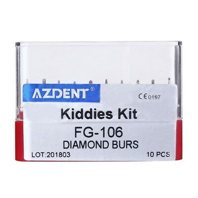 Dental Diamond Burs Kiddies kit Creamics/Composite Polishing (FG burs) red