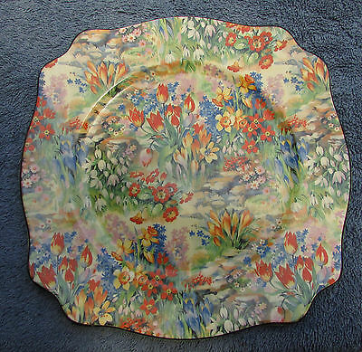 Stunning Vintage Royal Staffordshire Wilkinson Chintz All Over Floral Plate