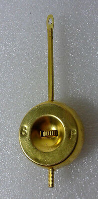 Adjustable Brass 4 1/2 Inch Pendulum for Ansonia Porcelain Clocks & Others