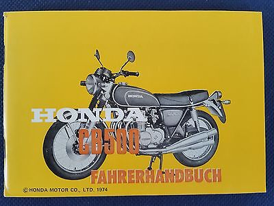 Driver User Manual Honda CB 500 F original from 1974