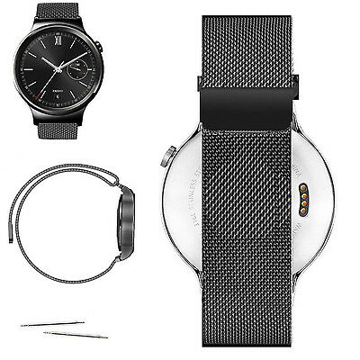 Magnetic Milanese Loop Stainless Steel Watch Band Strap For Huawei Smart Watch
