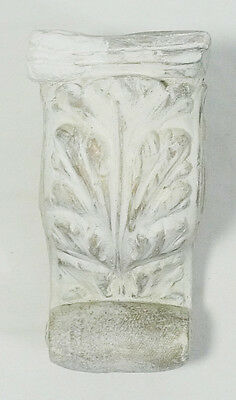 White Ceramic Acanthus Leaf Corbel Wall Shelf Sconce