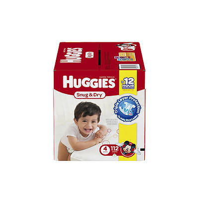 New Huggies Snug and Dry Size 4 Baby Diapers - 112 Count Model:20073501
