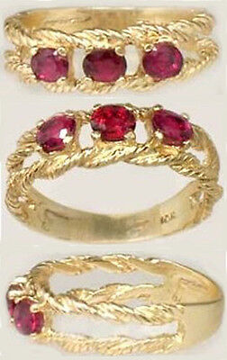 19thC Antique ¾ct Siam Ruby Ancient Asian Warrior Invulnerable Invincible 10ktYG • CAD $755.99