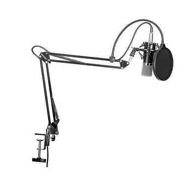 Neewer NW-700 Broadcasting Condenser Microphone with Suspension Boom Stand Kit