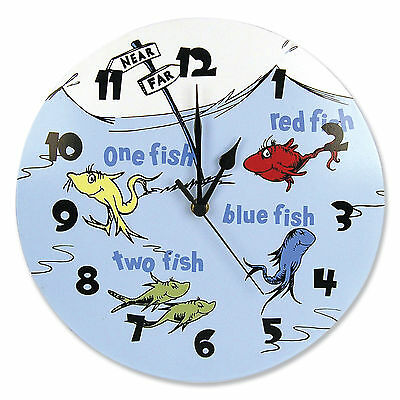 Trend Lab Wall Clock - Dr. Seuss One Fish Two Fish