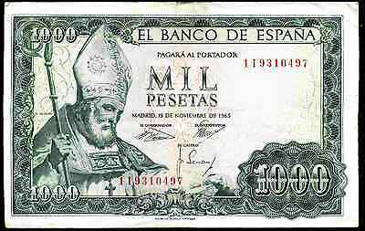 Spain. 1,000 Pesetas, 1 I 9310497. 19-11-1925. Nearly Very Fine.