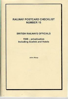 British Railway Officials 1948 PC Checklist inc Sealink & Hotels- Alsop No.15