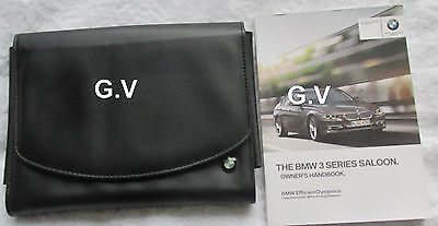 BMW 3 SERIES SALOON OWNERS MANUAL WITH LEATHER WALLET 2012 FREE POST 320i 328i