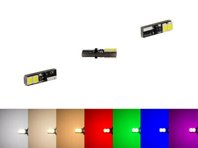 MaXlume® 4x SMD 2835 CAN-Bus LED Side 240LM w1.2w T5 Glassockel 12V 7 Farben