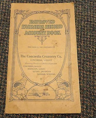 1924-25 Concordia Kansas Creamery Co Farmers Record Account Book