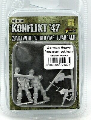 Warlord Games Konflikt 47 German heavy infantry with LMG/'s