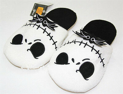 Cool The Nightmare Before Christmas Jack Skellington Soft Plush Warm Slippers