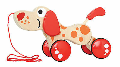 E0347 HAPE Walk-A-Long Puppy Wooden Toy [Push & Pull] Baby Toddler Child 12M+