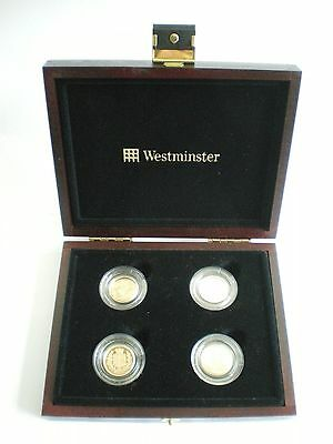 1989 2002 2005 2008 Royal Mint Gold Proof Half Sovereign Coins - With Box