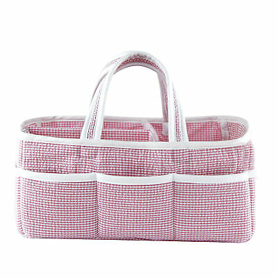 Trend Lab Storage Caddy - Lilac Gingham Seersucker