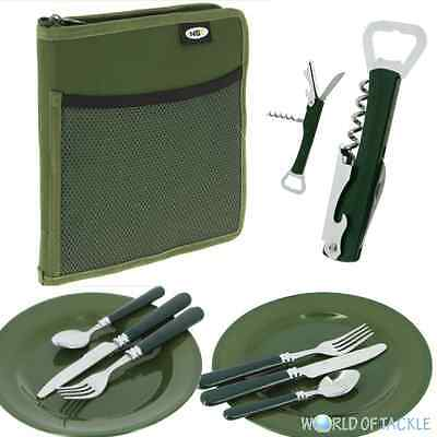 NGT Deluxe Cutlery and Plates Set Carp Fishing Camping Day Picnic 2 Forks Spoons