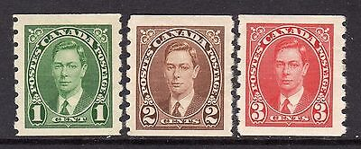 Canada KGV1  1937-38 (Coil Stamps Imperf x perf 8) Set SG368-70 M/Mint Cat £38