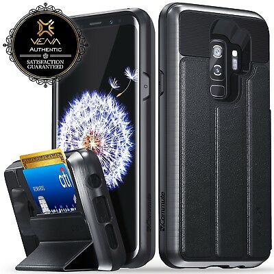 For Samsung Galaxy S9 Plus S9+ Vena【vCommute】Leather Wallet Card Slot Case Stand