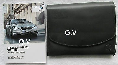 BMW 5 SERIES SALOON OWNERS MANUAL 2013 WITH LEATHER WALLET 01 40 2 911 155 en
