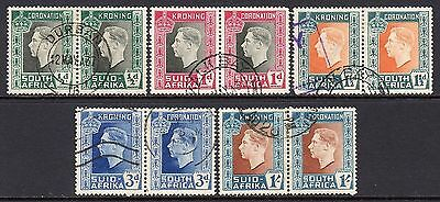 South Africa KGV1  1937 Coronation Set SG71-75 Used Cat £10