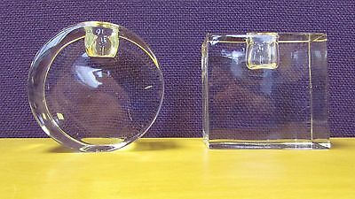 Set Of 2 Rogaska Crystal Candlestick Holders 15 E6