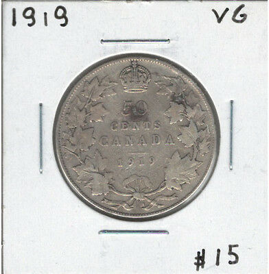 Canada 1919 Silver 50 Cents VG Lot#2