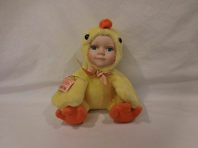 Show Stoppers Babes in the Wild Porcelain Plush Yellow Chicken