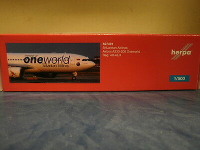 Herpa Wings 1:500 Airbus A330-200 SriLankan OneWorld