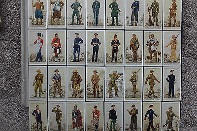 32 CARDS         UNIFORMS of the  TERRITORIAL ARMY    (1939)     (JOHN PLAYER)